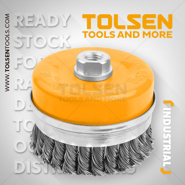 CUP TWIST WIRE BRUSH WITH NUT(HEAVY DUTY)