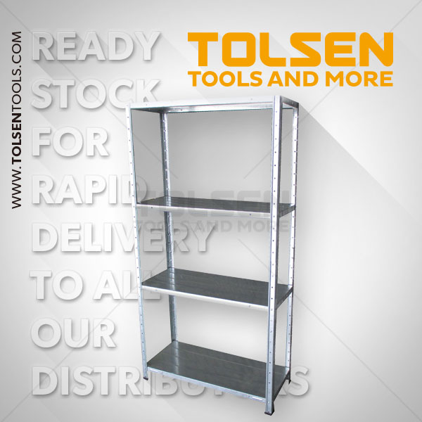 GALVANIZED METAL STORAGE SHELF