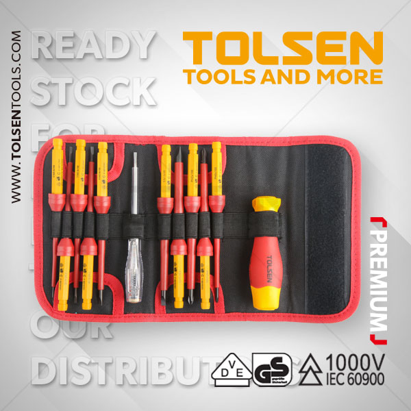 12PCS INSULATED CHANGEABLE SCREWDRIVER SET