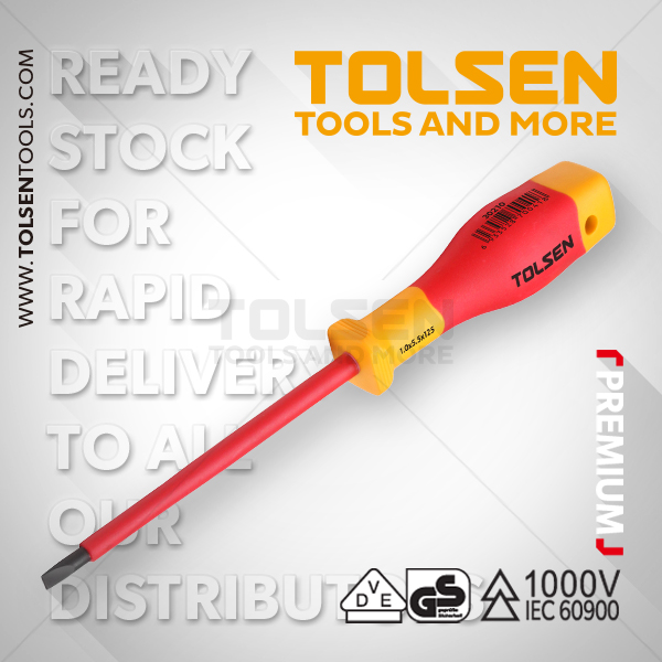 INSULATED SLOTTED SCREWDRIVER