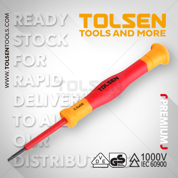 INSULATED PRECISION SLOTTED SCREWDRIVER