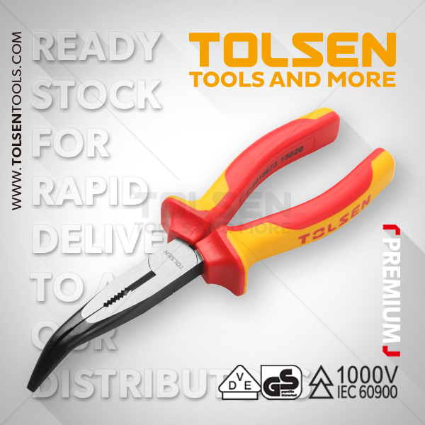 INSULATED BENT NOSE PLIERS