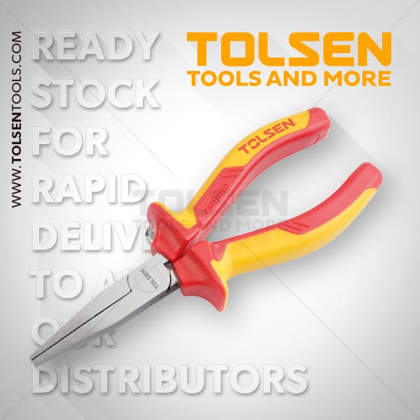 INSULATED FLAT NOSE PLIERS