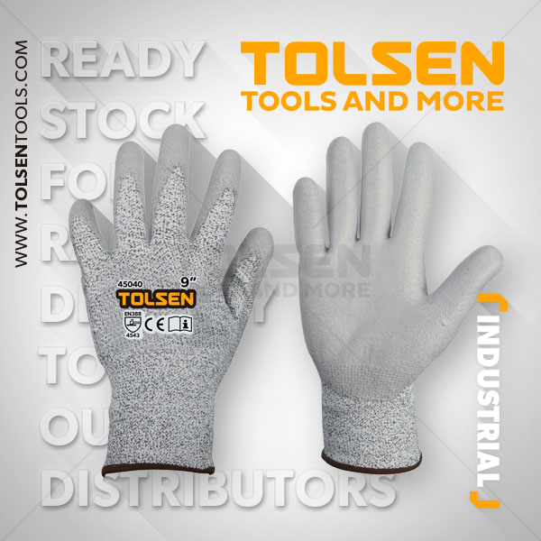 CUT RESISTANCE PROTECTIVE GLOVES ( LEVEL 5 )