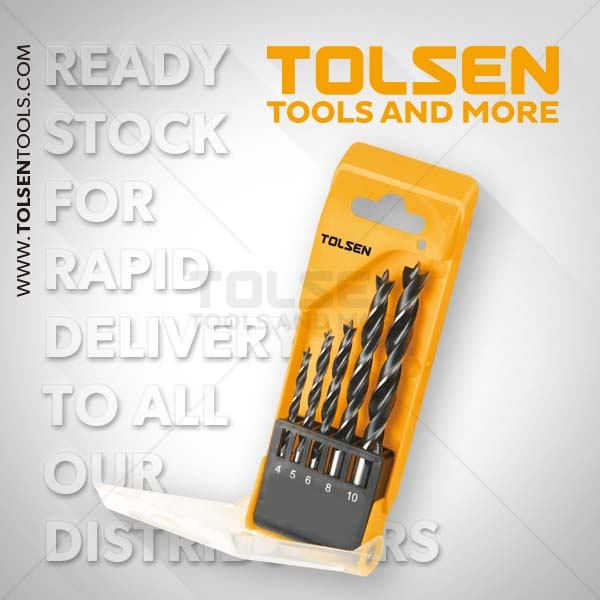 Tolsen Wood Drill Bits Set 5 Piece In Case Christmas Gift Ideal for him or her